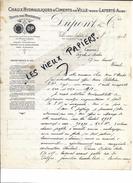 10 - Aube - VILLE-SOUS-LAFERTE - Facture DUPONT - Chaux Hydrauliques Et Ciments - 1913 - REF 65C - France