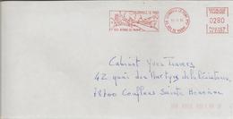 EMA Rouge De Joinville Le Pont (94) Et Ses Bords De Marne (oblitération Du 16/11/1993) - Marcophilie (Lettres)