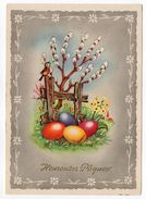 Heureuses Pâques --(oeufs,oiseau,fleurs),cpsm 15 X 10 éd ESP Paris - Pâques