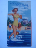 VIÑA DEL MAR. WHEREVER YOU MAY BE, YOUR ROAD LEADS TO VIÑA - CHILE 60s. 16 PAGES COLOR ILLUSTRATIONS BY GIBIAN. - Dépliants Touristiques