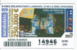 Spain Lottery Ticket OID - TRADITIONAL FAIR FALLAS VALENCIA - LA CRIDA - Billets De Loterie
