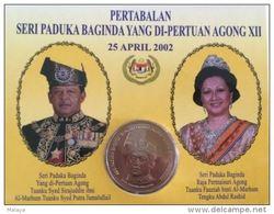 Malaysia  2002 1 Ringgit Nordic Gold Coin BU  Agong Perlis - Malaysia