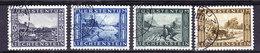 """Liechtenstein 1943 Binnenkanal 4v Used """"Vaduz"""" (35666)"""