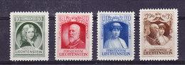 Liechtenstein 1929 Huldigung Fürst Franz I 4v * Mh (= Mint, Hinged)  (35667)