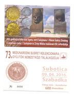 SERBIAN NUMISMATICS  POSTCARD  450 YEARS OF THE BATTLE OF SIGET,COINS OF  SULEIMAN I LEGISLATOR RARE VARIANTE DID NOT TR - Monnaies (représentations)