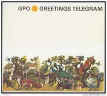 Grande-Bretagne 1966. Télégramme Postal. La Nature : Papillons, Renard, écureuil, Grenouille, Lapin, Champignon, Oiseaux - Cygnes