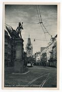 Allemagne--FRIBOURG--1946--Bertholdsbrunnen Und Martinstor (tramway),cpsm 14 X 9  éd Burda - Freiburg I. Br.