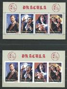 Romania 2004 Bram Stoker Vampire Dracula.Congress U.P.U.Mi - 5826/29 A. ( Bl.340A ) And ( Bl.340B ).MNH