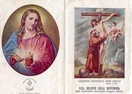 S. Giovanni Rotondo -Santino Depliant Antico CHRISTO CONFIXUS SUM CRUCI (Gal. 2,19) Casa Sollievo Sofferenza - N48 - Religione & Esoterismo