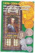 SERBIAN NUMISMATICS  POSTCARD-SZABATKA  COINS OF HUNYADI JANOS  DID NOT TRAVEL - Monnaies (représentations)