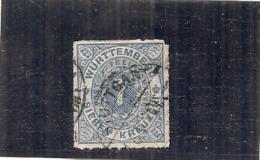 Allemagne - WURTTENBERG -  N 39 --- 7 Bleu Côte 25€ - Wuerttemberg