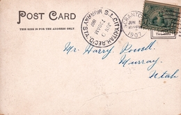 Carte Postale USA 1907 SCRANTON Pennsylvania Murray Utah - Vereinigte Staaten