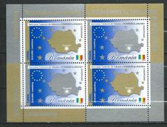 Romania 2005 The Signing Of The European Union Accession Treaty.Mi - 5933/34.Bl.354.MNH