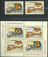 Romania 2005 Gastronomy - Europa Stamps.Mi - 5935/36.Bl.355.MNH