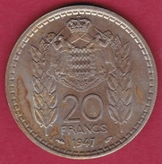 Monaco - Louis II - 20 Francs - 1947 - SUP - Mónaco