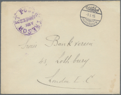 Kamerun: 1916 (3.6.), Stampless Cover With Fine German Type 'DUALA / (KAMERUN) A' Pmk. And Violet French 'TRESOR ET POST