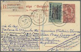 Ruanda-Urundi - Belgische Besetzung Deutsch-Ostafrika: 1916 (26.12.), Belgian Congo 15c. Green/black With Bilingual Opt.