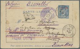 "Ägypten - Besonderheiten: 1901, French P.O. Port Said, Letter Card 15c. Blue Used ""PORT-SAID 24 MAI 01"", Addressed"