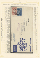 """Flugpost Übersee: 1931, April: Two First Flight Covers From The """"First Airmail BURMA-ENGLAND"""" Stages Of The 1931 Fi"""