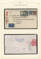 Flugpost Übersee: 1940/1941: War Time  Air Mails From  Burma. Three Commercial Covers From Rangoon To Hong Kong Res