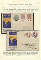 Großbritannien: 1933, 23. Sept.: First Scheduled Air Mail Service London - Rangoon. Three First Flight Covers Moun