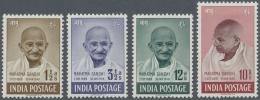 Indien: 1948, Mahatma Gandhi Complete Set To 10r. Mint Lightly Hinged, SG. £ 425 For MNH