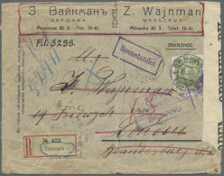 Polen - Russische Periode: 1915/1918, Registered Letter From WARSZAWA  19.1.15 With French R-label To London. Evidently
