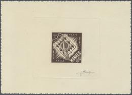 Thematik: Sport-Schießen / Sport-shooting: 1948, Monaco. Epreuve D'artiste Signée In Brown For The 100fr Va