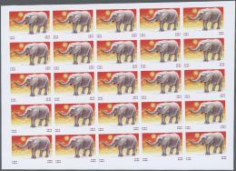 Thematik: Tiere-Elefanten / Animals Elephants: 1991, Burundi. Imperforate Progressive Proof (2 Phases) For The 30fr Valu