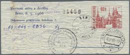 "Thematik: Tiere-Tauben / Animals-pigeons: 1966, CSSR Pigeongram Stationery 60h With Respective Pictorial Pmk. ""BRNO 8.5."
