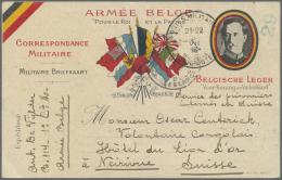 "Belgien - Besonderheiten: 1916, Illustrated Postcard ""ARMEE BELGE"" (shortcomings) To An Interned Soldier From The Congo"