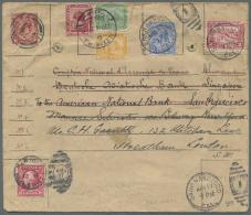 Malaiische Staaten - Straits Settlements: 1914, Round-the-world-cover London Eastbound Via Alexandria-Singapore-San Fran