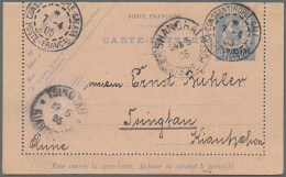 China - Besonderheiten: Incoming Mail, 1905, Constantinople/Turkey, French Office, Letter Card French Levant 1 P./25 C.