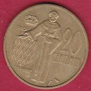 Monaco - Rainier III - 20 Centimes - 1962 - 1960-2001 Nouveaux Francs