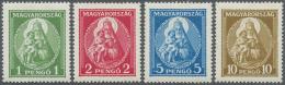 Ungarn: 1932, Patrona Hungariae (Hl. Jungfrau Mit Jesuskind) Kompletter Satz Ungebraucht Mit Falz Und Gummiunebenheiten,