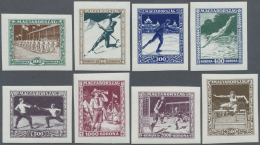 Ungarn: 1925, Sport 100 Kr. -2500 Kr. Imperforated, Complete Set With Eight Stamps, Mint Never Hinged, Very Fine, Rare
