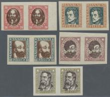 Ungarn: 1919, Sozialrevolutionäre Ungezähnt In Waagerechten Paaren, Wasserzeichen Y, Tadellos Postfrisch