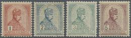 Ungarn: 1900 - 1901, Freimarken: König Franz Josef 1 Kr Bis 5 Kr Ungebraucht, Teils Signiert, M€920,-.