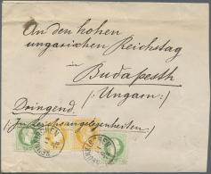 Ungarn: 1878: Brief Aus Neunkirchen 'An Den Hohen Ungarischen Reichstag In Budapest' Mit Vermerk 'Dringend! In Reichsang
