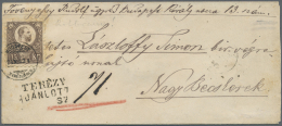 Ungarn: 1874. 15k Franz Josef I (toned) As Single Franking On Cover From Budapest (7/8/74) To Nagy Becskerek With Arriva