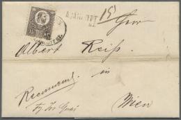 Ungarn: 1872, 15 Kr. Franz-Josef On Registered Letter From DEBREZIN To Vienna.