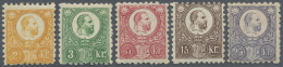 Ungarn: 1871, Freimarken: König Franz Josef 2 K. Bis 25 K. Im Stichtiefdruck, Ungebraucht, Teils Signiert, M€1