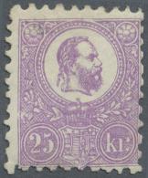 Ungarn: 1871, Freimarke: König Franz Josef 25 K. Violett Im Steindruck, Ungebraucht, Sehr Farbfrisches Stück,