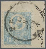 Ungarn: 1871, Freimarke: König Franz Josef 10 K. Weiß Im Steindruck, Gestempelt Type VI, Fotoattest Orban, M&