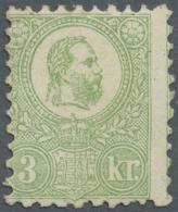 Ungarn: 1871, Freimarke: König Franz Josef 3 K. Grün Im Steindruck, Einwandfrei Ungebraucht, Fotoattest A. Die