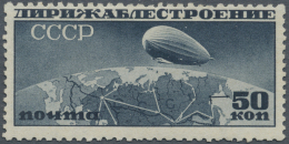 Sowjetunion: 1931, Zeppelin 50kop. Slate, Lying Watermark, Mint O.g., Slight Coner Crease. Very Rare Stamp!