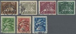Schweden: 1924: Weltpostverein (UPU), Getsempelter Satz Mit üblicher Zähnung, 1 Kr. Zahnmängel. (KW Miche
