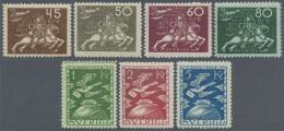 Schweden: 1924, 5 ö. - 5 Kr. 50 Years UPU, Complete, Unused, 25 C. Slight Oxidized, Otherwise Fine