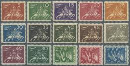 Schweden: 1924, 50 Jahre UPU, 15 Werte Kompletter Satz Postfrisch, Meist Gut Zentriert, Attest Sorani, ME 1500,-