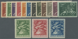 Schweden: 1924, 50 Jahre Weltpostverein UPU Kompletter Satz Postfrisch Dabei Die Kronen-Werte Sign. Und FA Caffaz (1990)